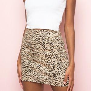 Brandy Melville Phoebe Leopard Skirt